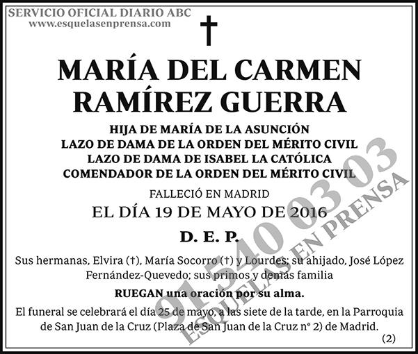 María del Carmen Ramírez Guerra